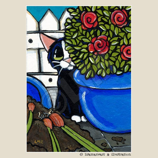 Cat ACEO: Hiding the Guilt by Lisa Marie Robinson