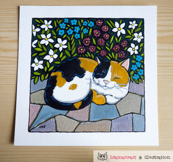 Scented Dreams. - Cat Painting for Whitby Galleries