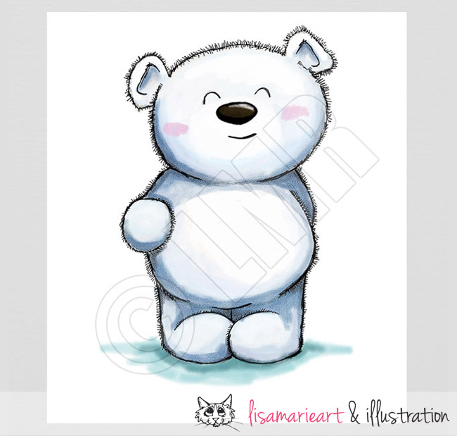 Sweet Little Polar Bear Sketch