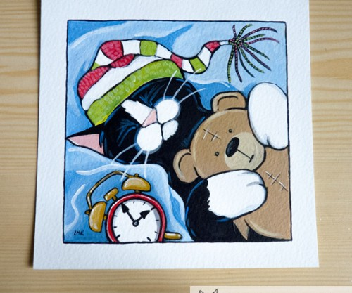Three A.M. - Cat Painting for Whitby Galleries