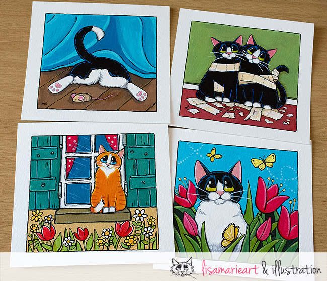 Cat Paintings July 2013 - Whitby Galleries