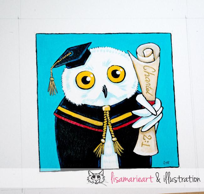 Snowy Owl Graduate by Lisa Marie Robinson