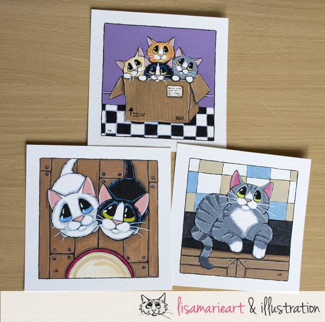 Whimsical Cat Art by Lisa Marie Robinson
