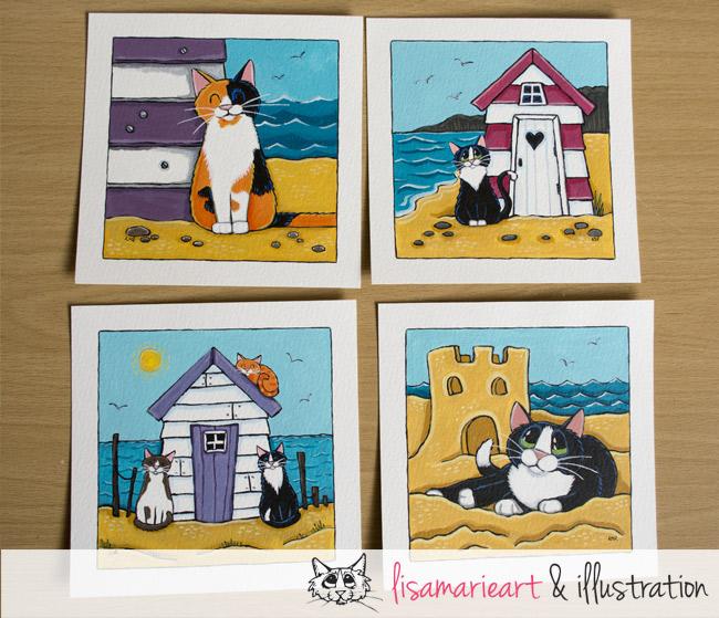 Beach Cats by Lisa Marie Robinson