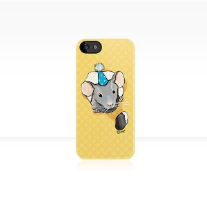 Little Grey Party Mouse iPhone Case