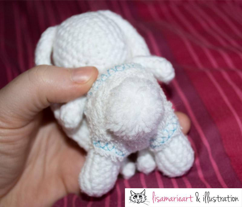 Crochet Baby Bunny Tail
