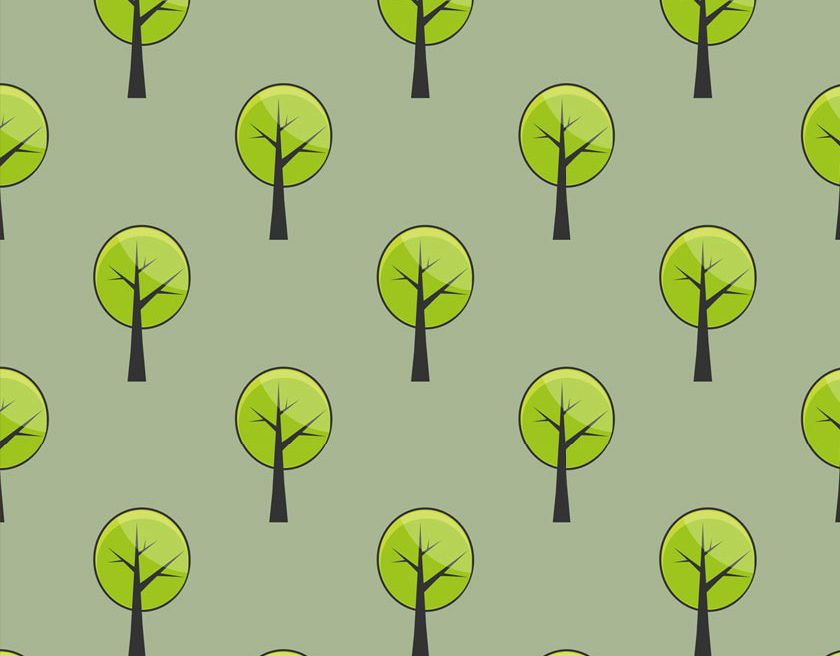 How to Make a basic Seamless Pattern - Trees