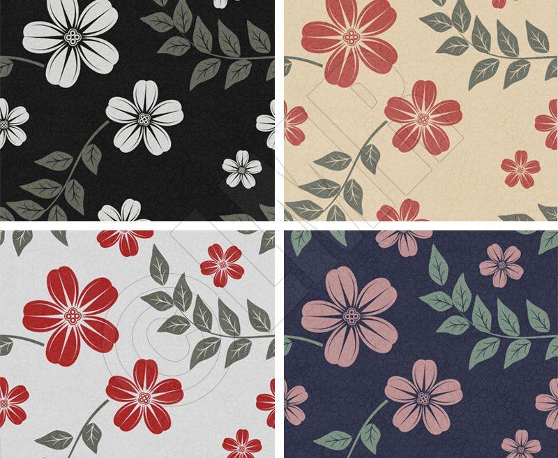 Floral surface pattern 4 Colours