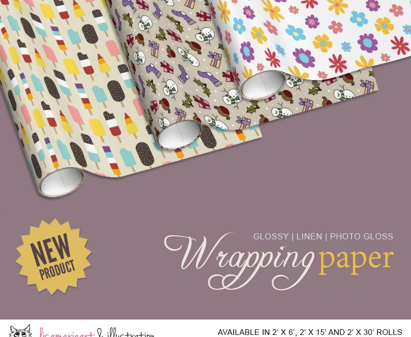 Wrapping Paper Designs by Lisa Marie Robinson