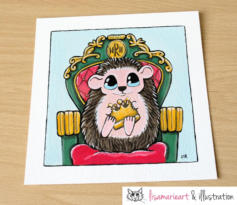 Royal Hedgehog Commission Painting