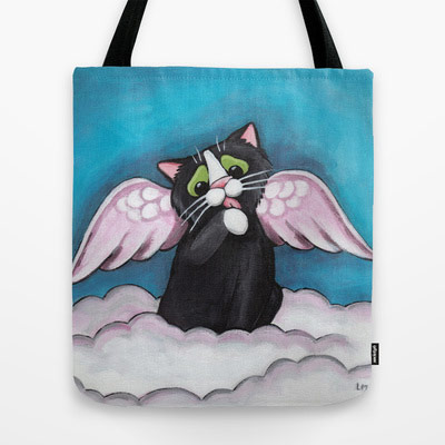 Cat Art Tote Bags