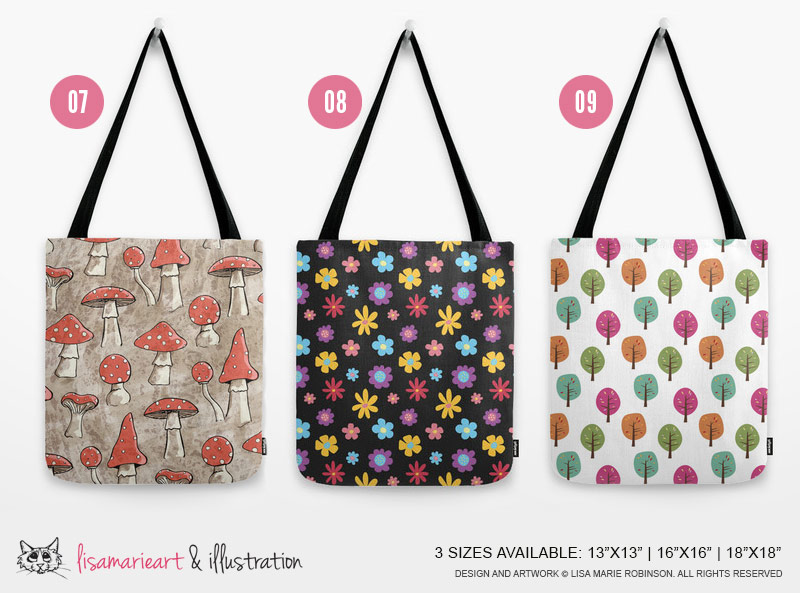 Nature Inspired Tote Bags by Lisa Marie Robinson