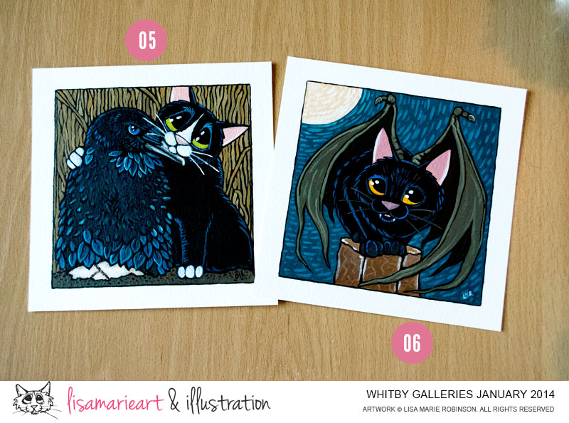 Cat Paintings - Whitby Galleries January 2014