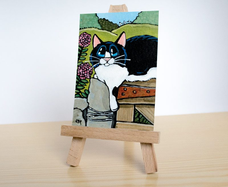Lazy Country Days: Cat ACEO