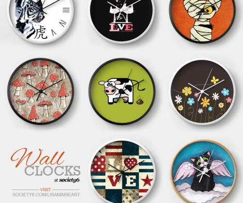 Wall Clocks by Lisa Marie Robinson