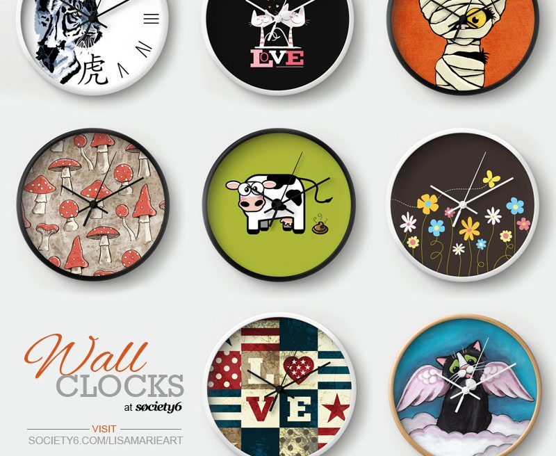 Wall Clocks by Lisa Marie Robinson