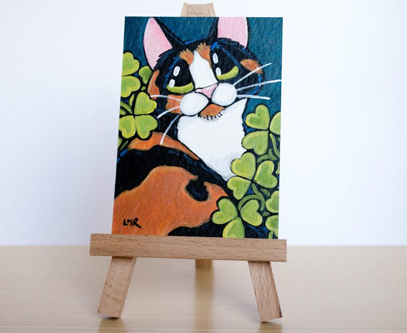 O'Malley: Calico Cat ACEO by Lisa Marie Robinson