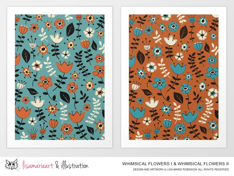 Whimsical Flower Art Prints at SOciety 6