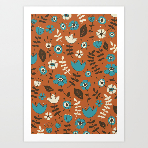 Whimsical Flower Art Prints at SOciety 6