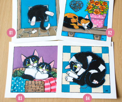 Cat Paintings - Whitby Galleries March 2014