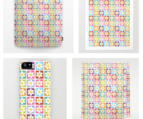 Colourful Stitched Flower Patches Products at Society6