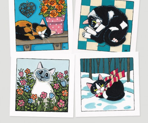 Cat Paintings by Lisa Marie Robinson at Whitby Galleries