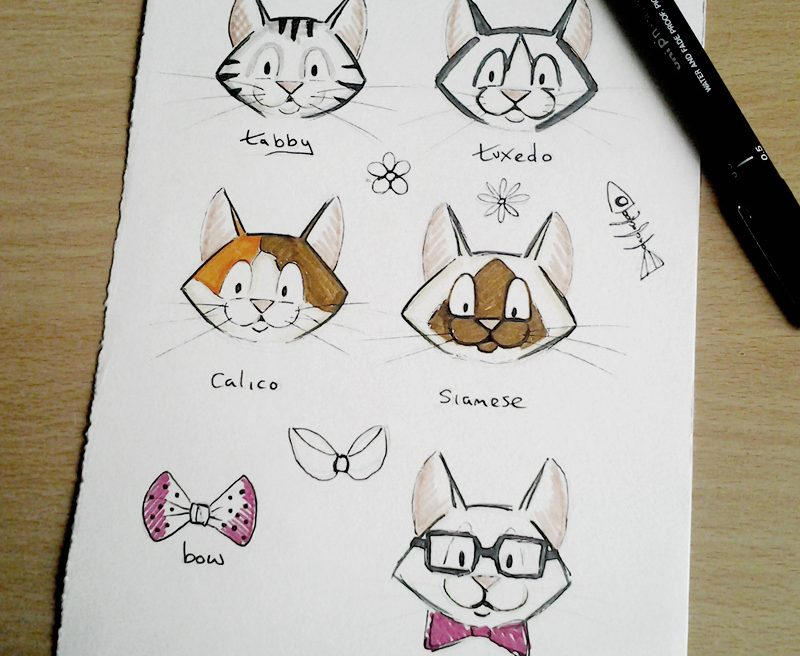 Cute Cat Sketches 22-05-2014