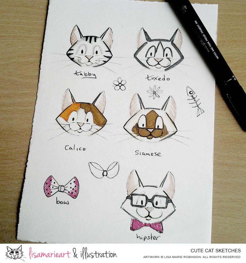 Sketch Cute Cat my Cute And i Love my Cats