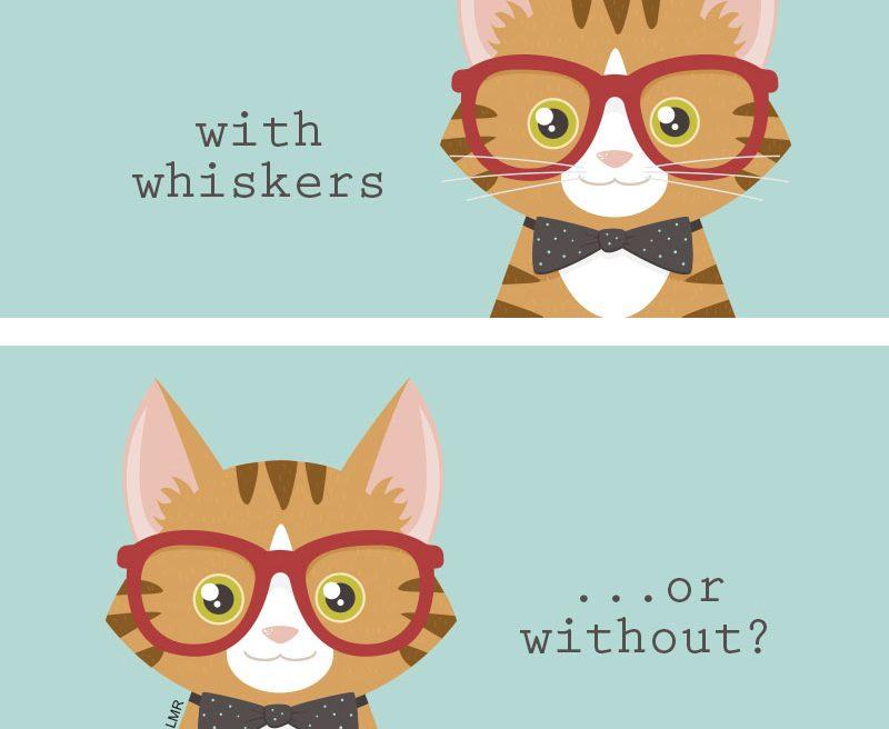 Hipster Cat Whisker Dilemma