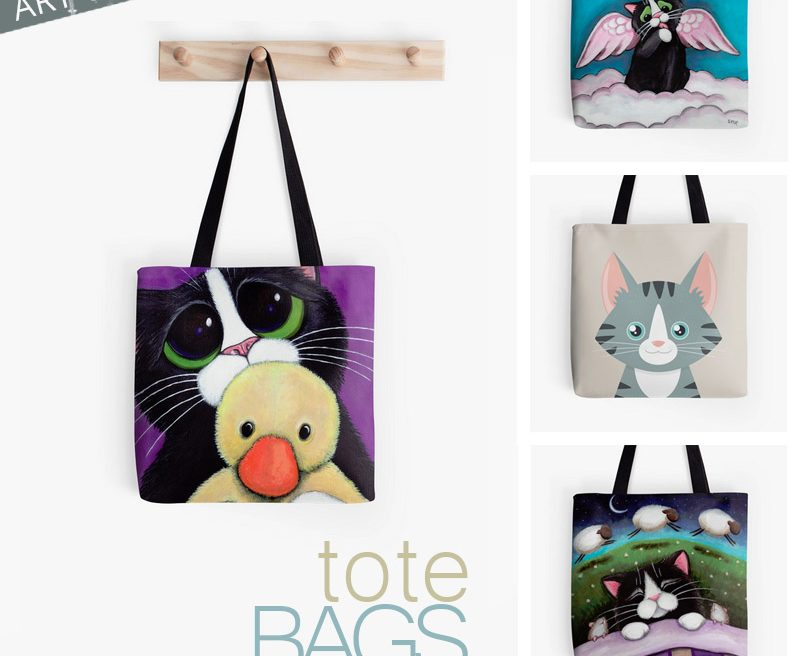 New Tote Bags at Redbubble