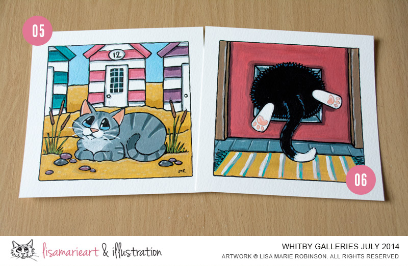 31-07-2014 Cat Paintings at Whitby Galleries