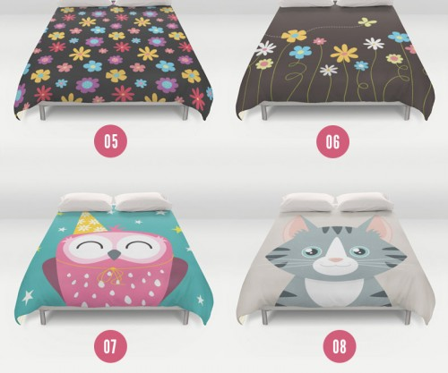 Animal & Flower Duvet Covers by Lisa Marie Robinson