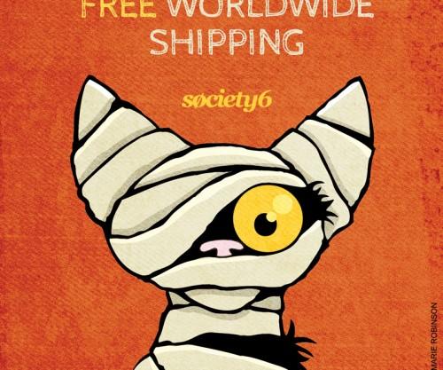 Free Worldwide Shipping at Society6