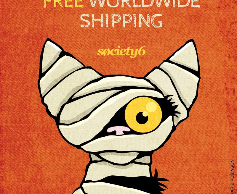 Free Worldwide Shipping at Society6
