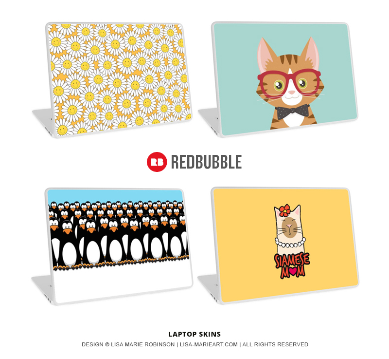 Laptop Skins by Lisa Marie Robinson