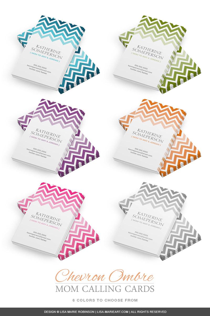 ombre-chevrom-mom-calling-cards