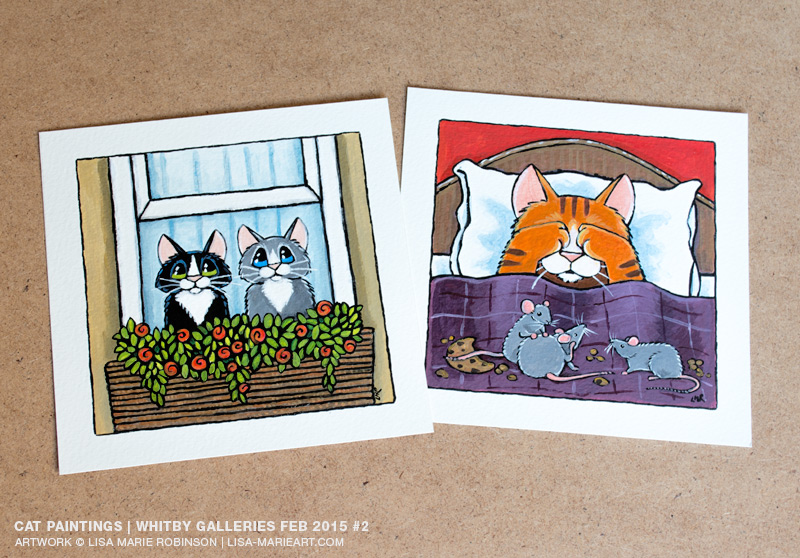 Quirky Cat Illustrations by Lisa Marie Robinson
