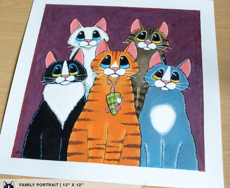 Feline Family Portrait by Lisa Marie Robinson