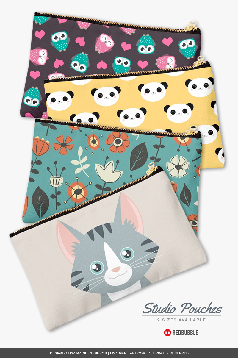 New Studio Pouches at Redbubble