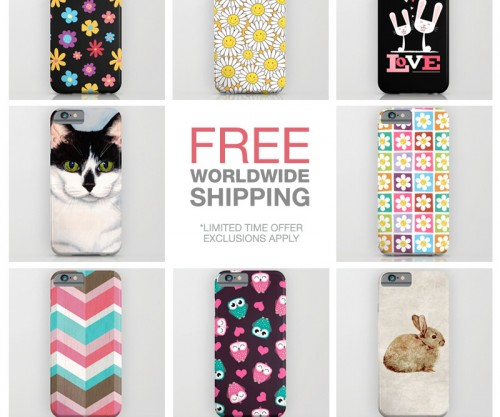 Free Wordlwide Shipping Society6 March 2015