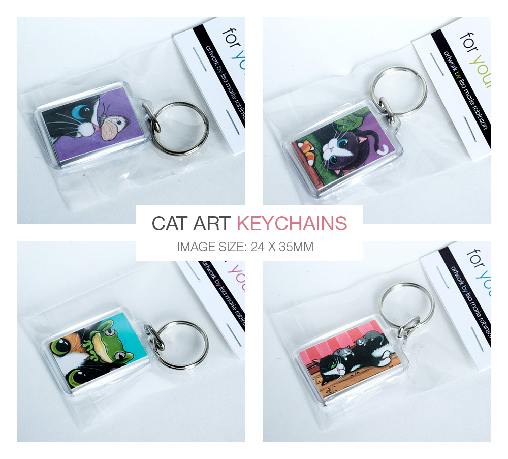 Cat Keyrings by Lisa Marie Robinson