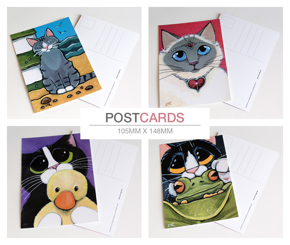 Cat Postcards by Lisa Marie Robinson