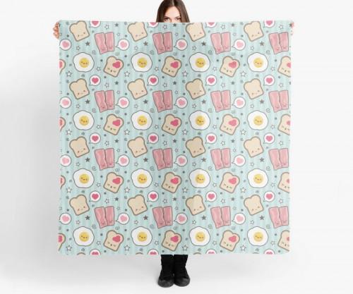 kawaii-bacon-and-egg-sarnie-scarf