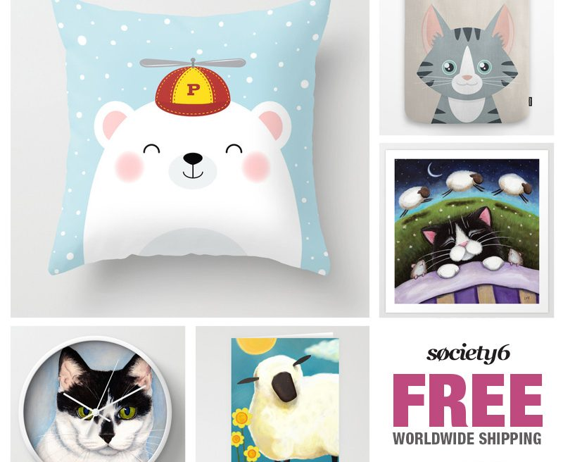 FREE Shipping at Society6 - June