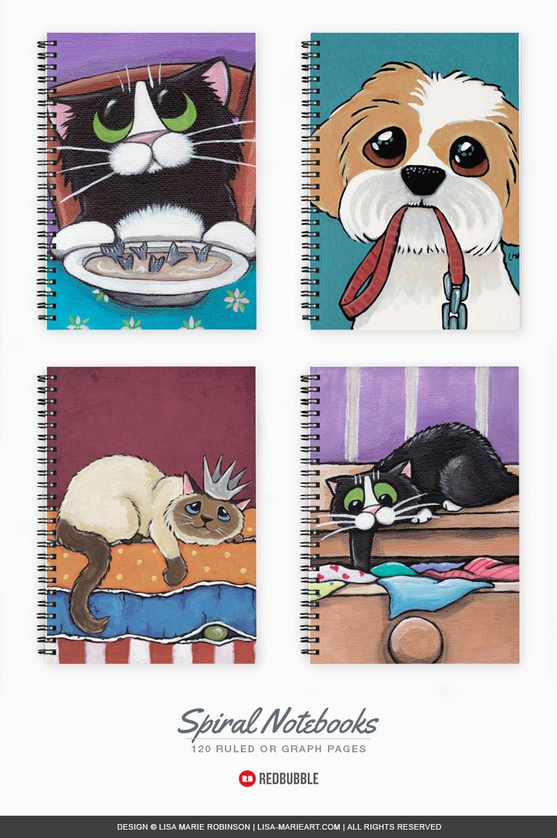 New Cat Illustration Notebooks