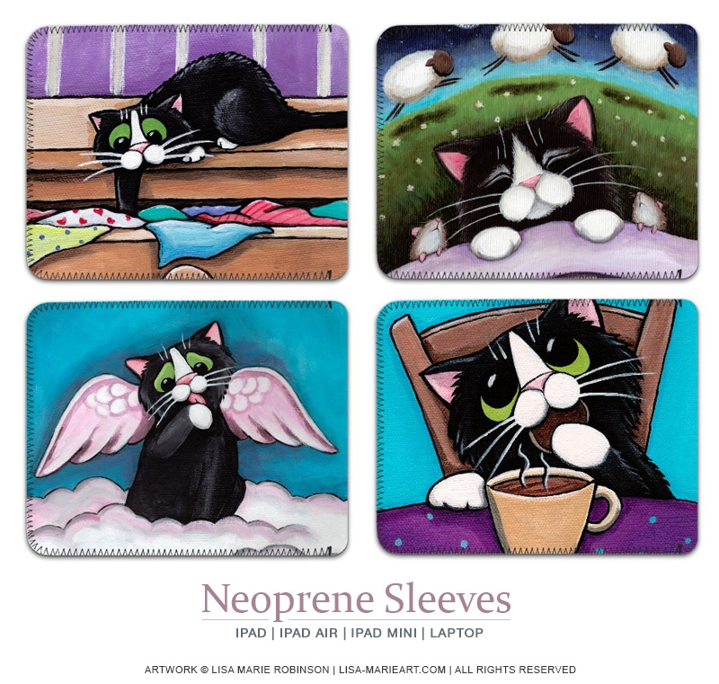 Cat Art iPad SLeeves
