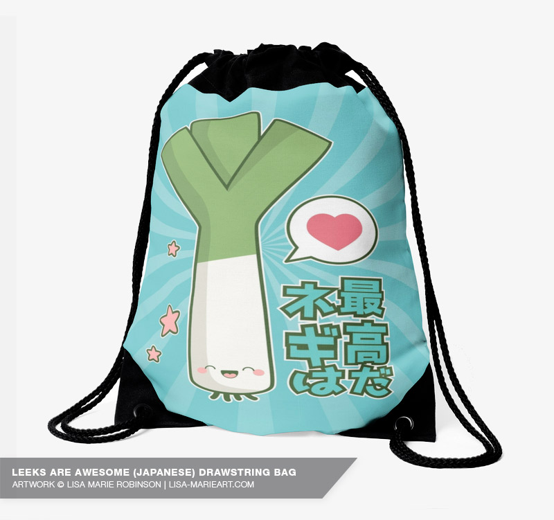 Leeks are Awesome! Drawstring Bag