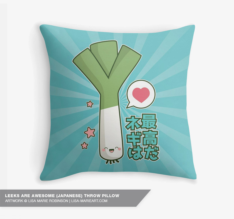 Leeks are Awesome! Throw Pillow