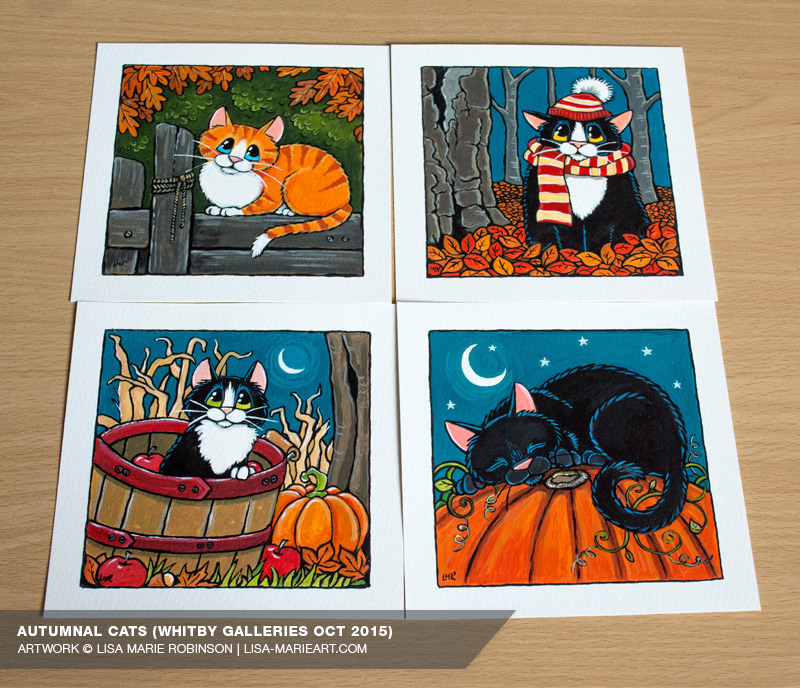 Autumnal Cat Illustrations Whitby Galleries October 2015