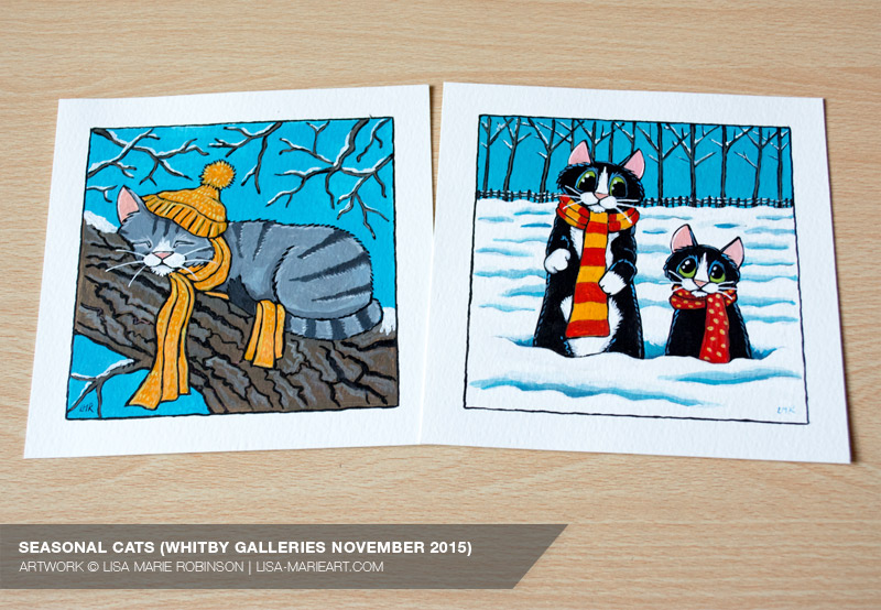 Cat Illustrations at Whitby Galleries November 2015